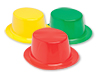Colorful Plastic Top Hats