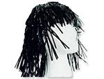 Black Foil Wig