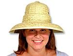 Straw Pith Helmet