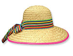 Stripe Band Beach Hat