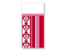 Hearts in a Row Tablecover