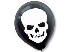 Skeleton 12 inch Latex Balloons