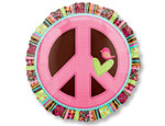 Peace Sign 18 inch Foil Balloon