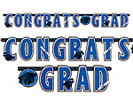 Blue Graduation Giant Letter Banner