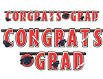 Red Graduation Giant Letter Banner