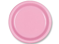 10 1/4 inch New Pink Plastic Plates