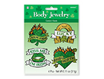 St. Patrick's Day Glitter Body Jewelry