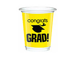 Yellow Graduation 12oz. Plastic Cups