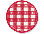 Red Gingham 7 inch Plates