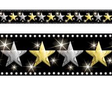 "4 Foot Led Lights >> 4FunParties.com - Hollywood Stars Border 40'18"""