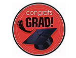 Red Graduation 7 inch Plates