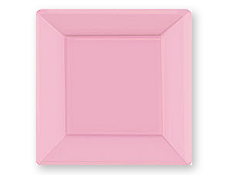 10 1/4 inch New Pink Square Paper Plates  sc 1 st  4FunParties & 4FunParties.com - 10 1/4