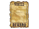 Custom Western Wanted Sign