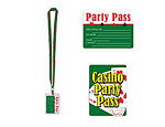 25 inch Casino Party Pass