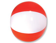 16 inch Red/White Beach Ball
