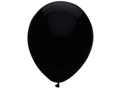 Pitch Black 12 inch Balloons
