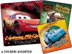 Cars Supercharged Stickers
