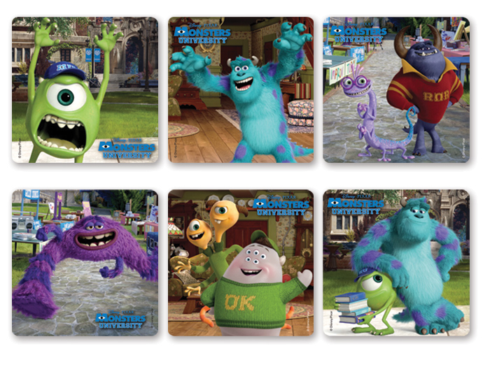 4funparties monsters university movie stickers our voltagebd Images
