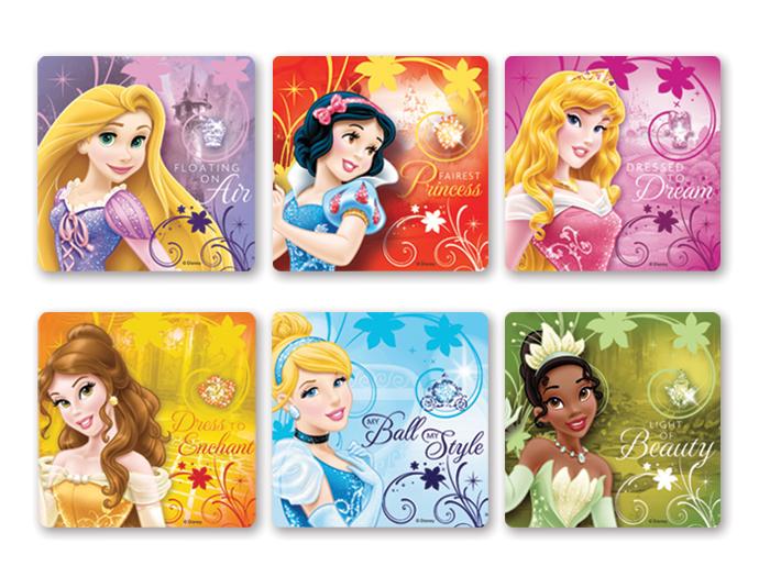 4funparties Com Disney Princess Glitter Stickers
