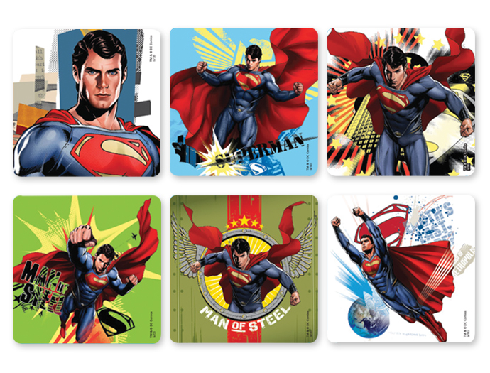 Superman Stickers 100 per roll