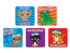 Cold & Fever Medical Patient Stickers