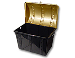 Black Empty Plastic Treasure Chest