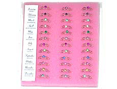 Boxed Birthstone Rings Assorted