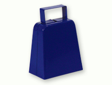4 inch Blue Tall Cowbell