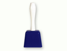 7.5 inch Blue Cowbell with Handle