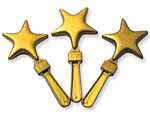Imprinted Gold Star Clacker