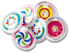 "2"" Design Spin Top Assorted"