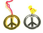 Metallic Peace Necklace