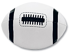 "4"" White Soft Football"
