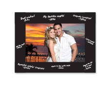 "S23212 - Black 4"" X 6"" Black Cardboard Photo Frame"