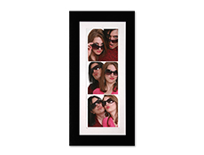 "S23224 - 2"" X 6"" Black And White Cardboard Photo Frame"