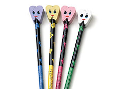 "6.5"" Smile Tooth Pencil/Erase"