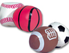 3 inch Sports Kick Bags Assorted