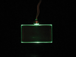 LED Rectangle Necklace