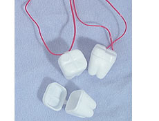 "1"" White Tooth Saver Necklace"