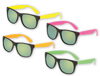 Neon Classic Sunglasses with Mirrored Lenses