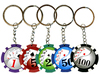 Poker Chip Keychains Assorted