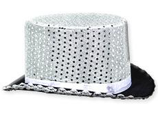 4FunParties.com - Silver Sequin Top Hat 71e189ac3d1