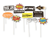 S57033 - Party Sayings Props On A Stick