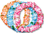 36 inch Deluxe Silk Flower Leis with Leaf Assortment