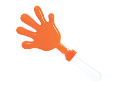 7 inch Orange/White Clacker
