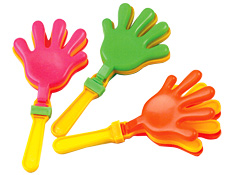 7 inch Imprinted Hand Clackers