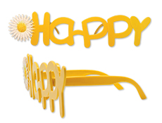 Happy Glasses - Yellow