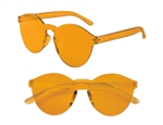 S71408 - Yellow Solid Rimless Glasses