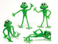 5 inch Bendable Frogs