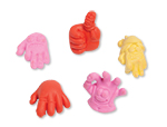 Wacky Hand Eraser Pencil Toppers